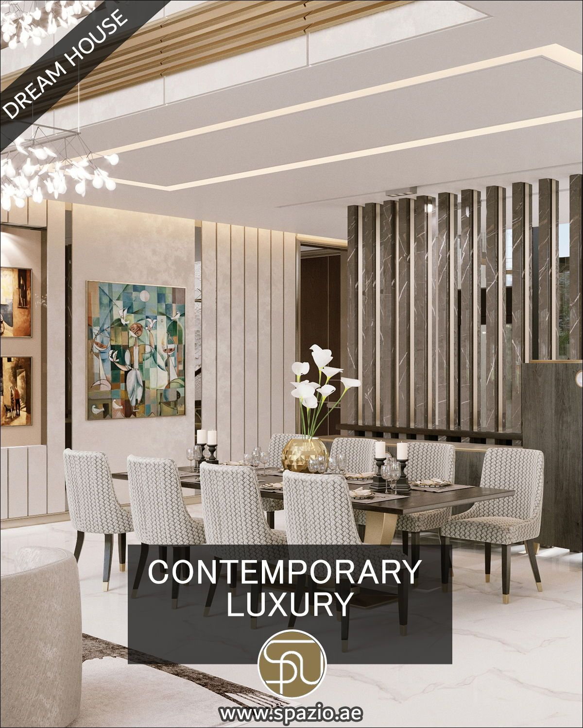 Luxury Modern Formal Dining Room Design Videos For Your Dream House Interior Design Dining Room White House Interior Living Room Decor Inspiration