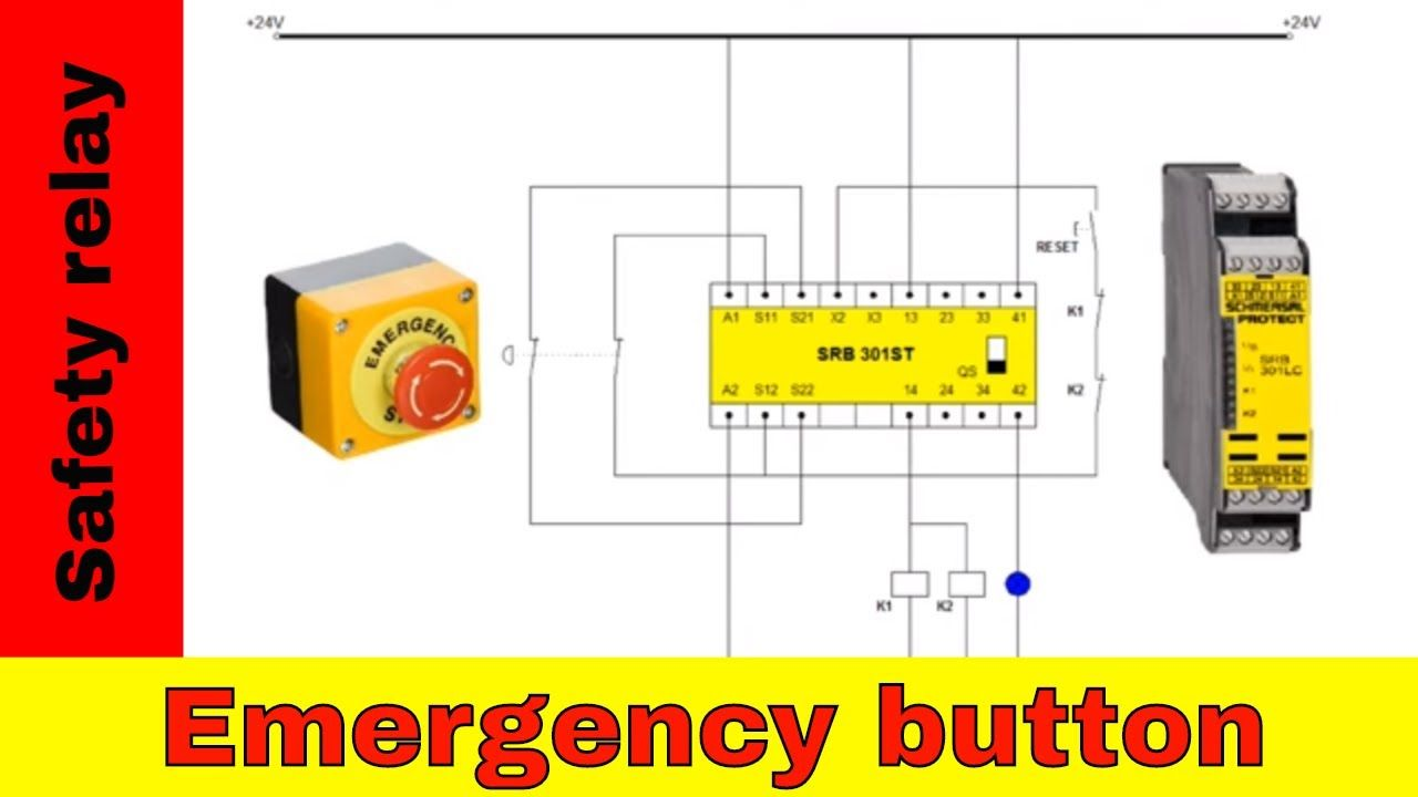Wiring Safety Relay And Emergency Button In 2020 Current Transformer Siemens Logo Relay