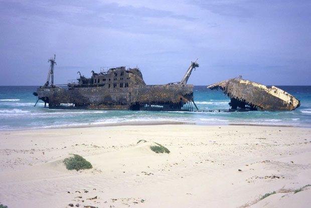Cabo de Santa Maria Shipwreck, Cape Verde