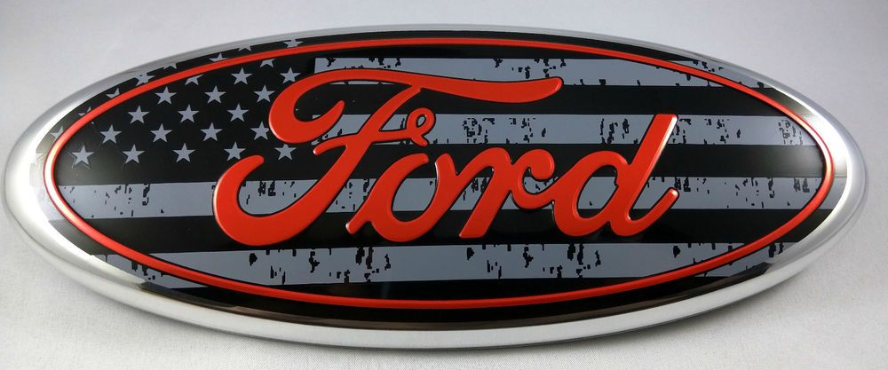 "9/"" Inch for F150 AMERICAN FLAG Grille Rear Tailgate Oval Emblem Ranger Edge"