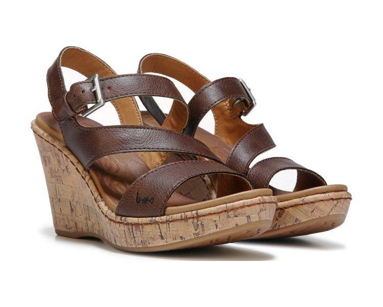 205178112fa B.O.C. Schirra Wedge Sandal Brown