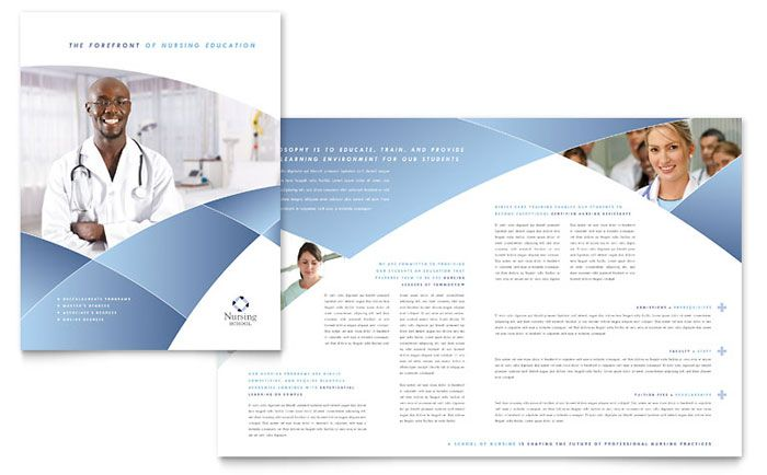 Nursing School Hospital Brochure Design Template By Stocklayouts