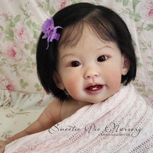 Kit de muñecas de vinilo para niños Teegan Reborn de Ping Lau