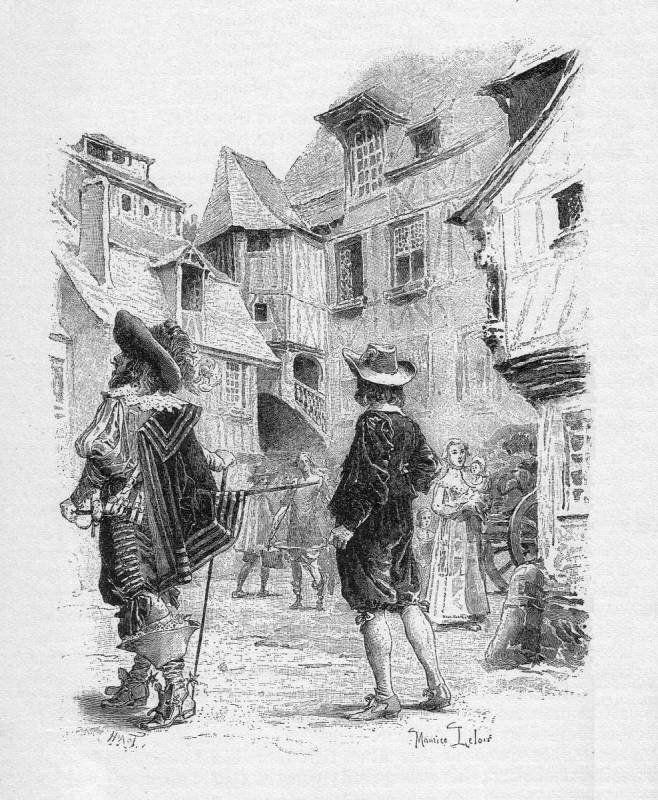 ilustração - dartagnan e os três mosqueteiros