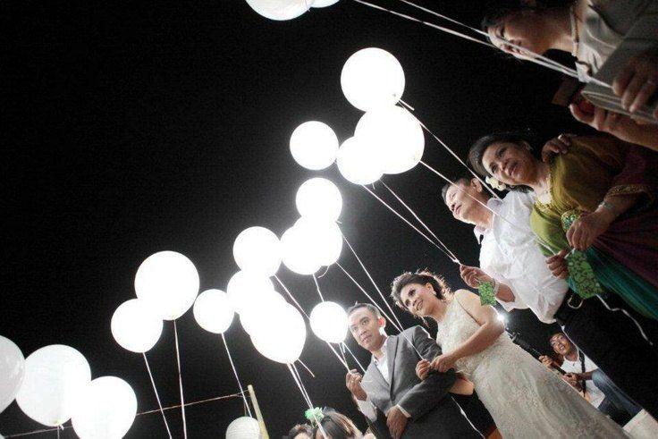 Lumières LED blanches pour ballons! Mariage envoyer! Décorations de fête LED lumières ballon lumières 10/20/30/50/100/150/200pcs
