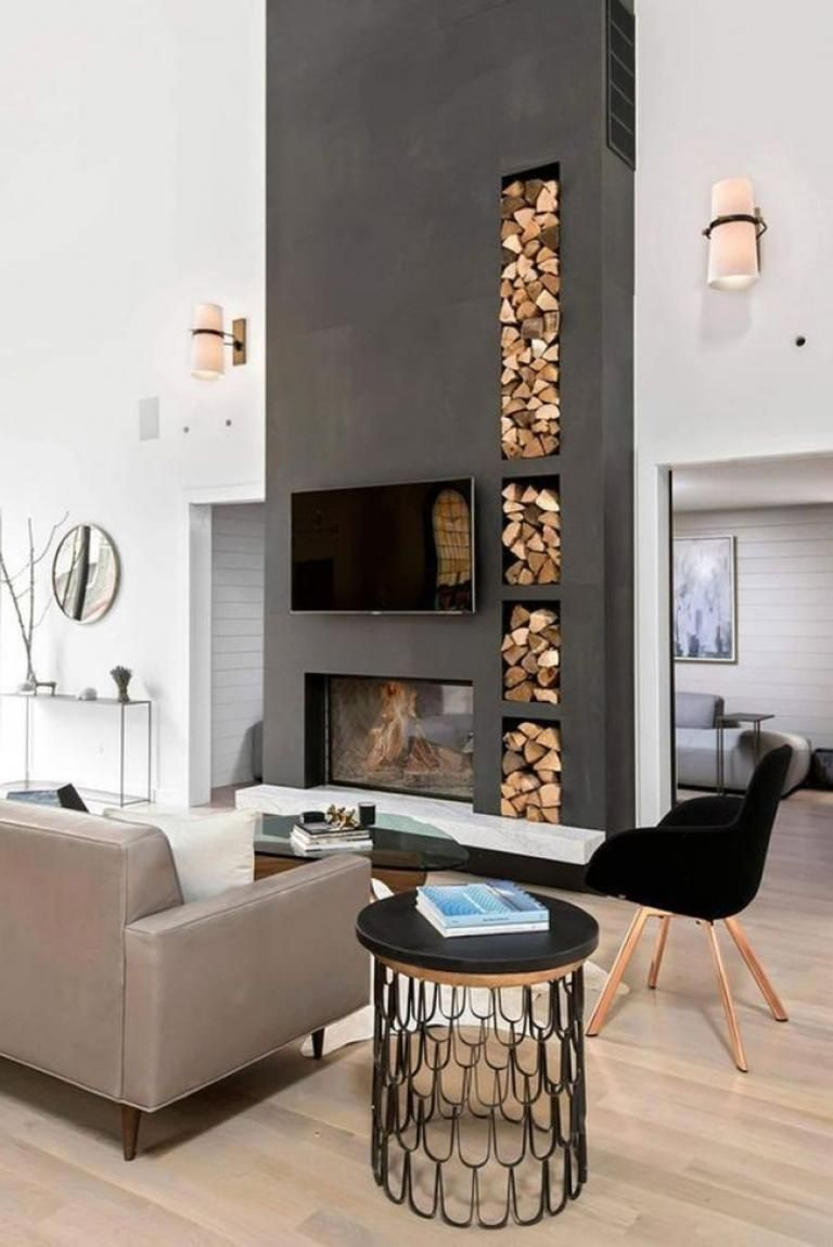 30 Elegant Modern Chimney Ideas Modern Farmhouse Living Room
