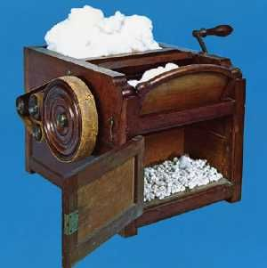 Image result for 1793 - Eli Whitney applied for a cotton gin patent. He received the patent on March 14. The cotton gin initiated the American mass-production concept.