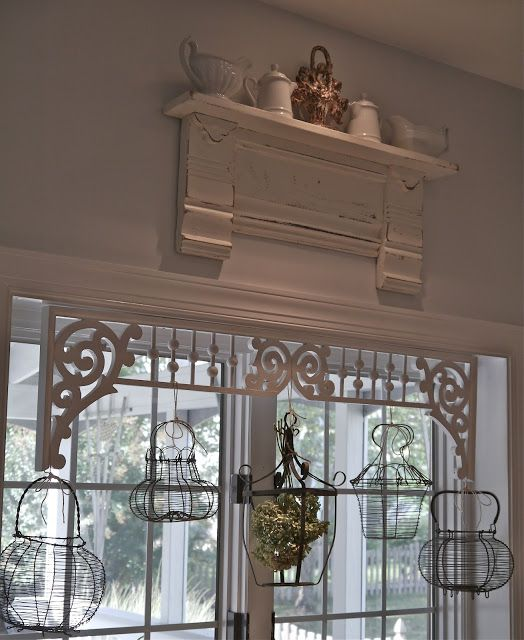 Chateau Chic: French Wire Basket Window Treatment