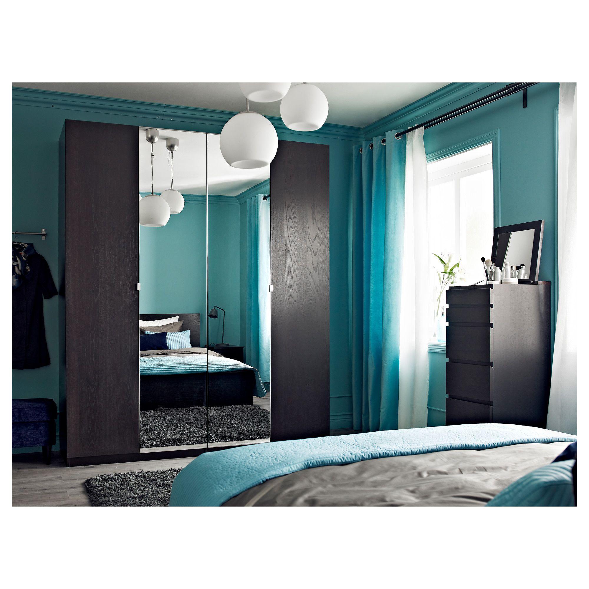 Ikea Master Bedroom: VIKEDAL Door With Hinges, Mirror Glass In 2019