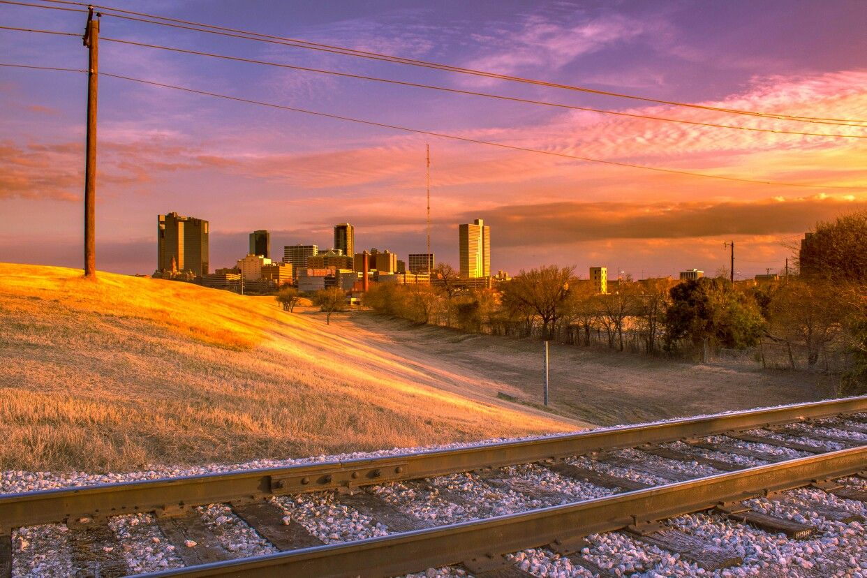 Sunset along the Trinity of Fort Worth, TX