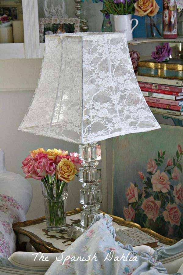 22 charming and beautiful lace diy projects to realize at home 22 charming and beautiful lace diy projects to realize at home lace lampshadehow aloadofball Gallery