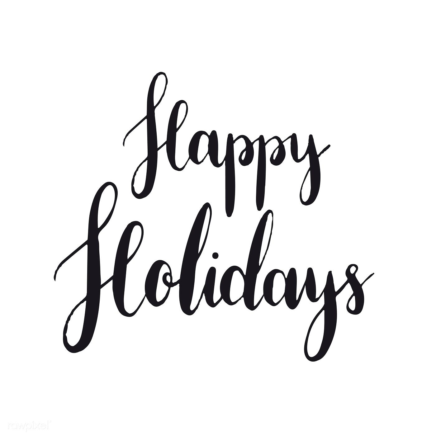Happy holidays typography style vector free image by