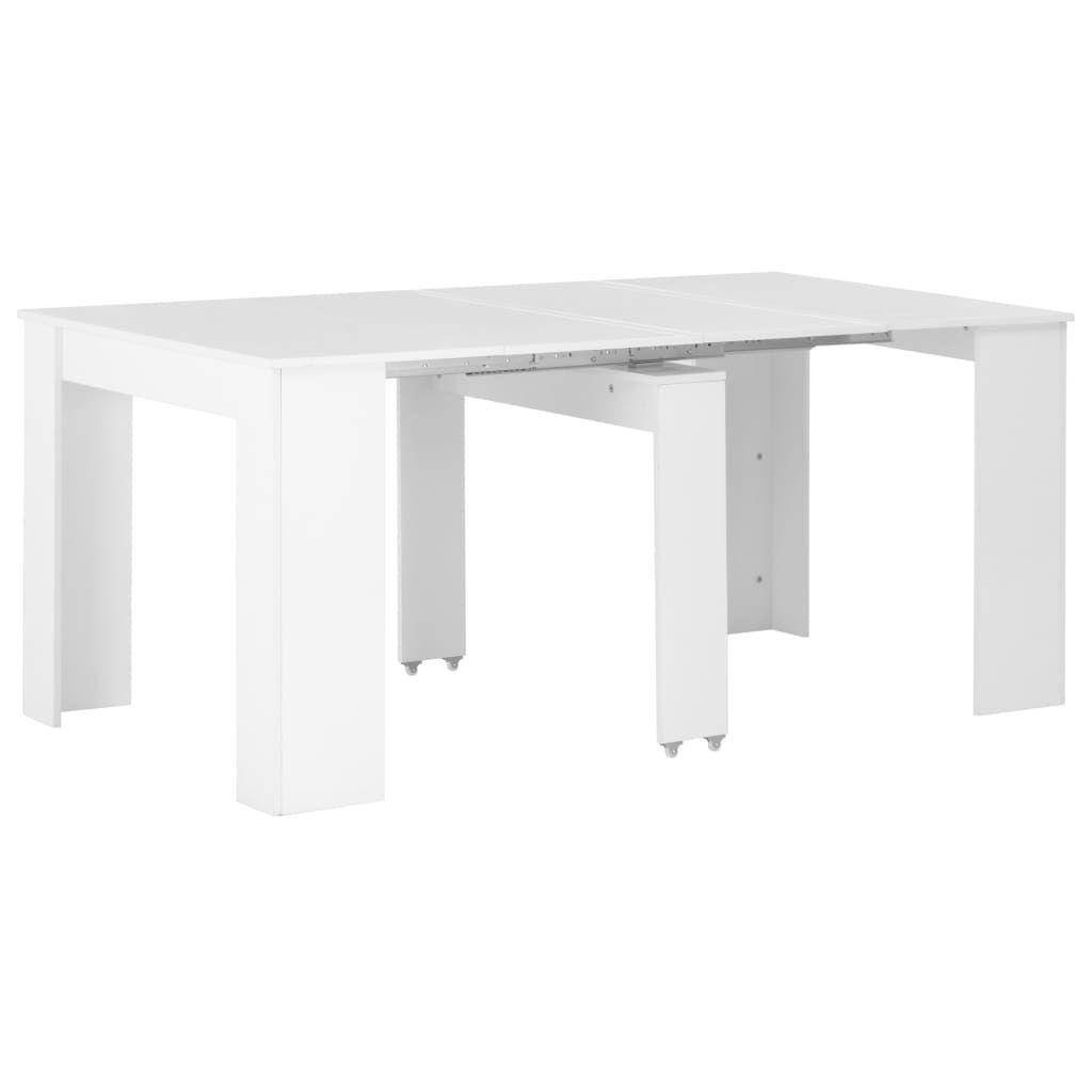 vidaXL Extendable Dining Table High Gloss White 175x90x75 cm 283731