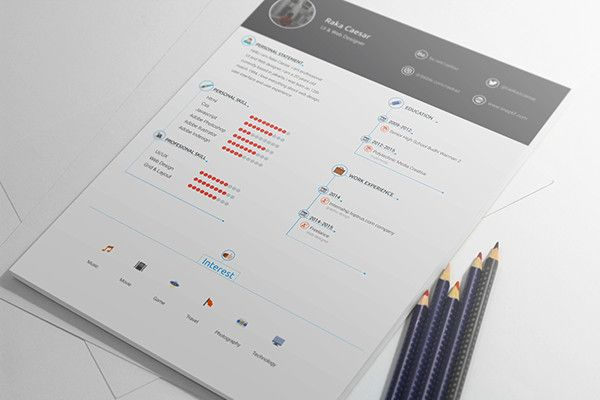 ResumeCvSkillRating  Cv Moderno    Creative Resume