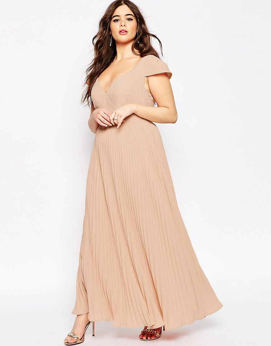 Image of asos curve wedding maxi dress with lace back dressed to