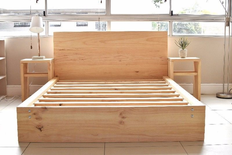 Solid Wooden Pine Bed Frames High Quality Single 3 4 Double