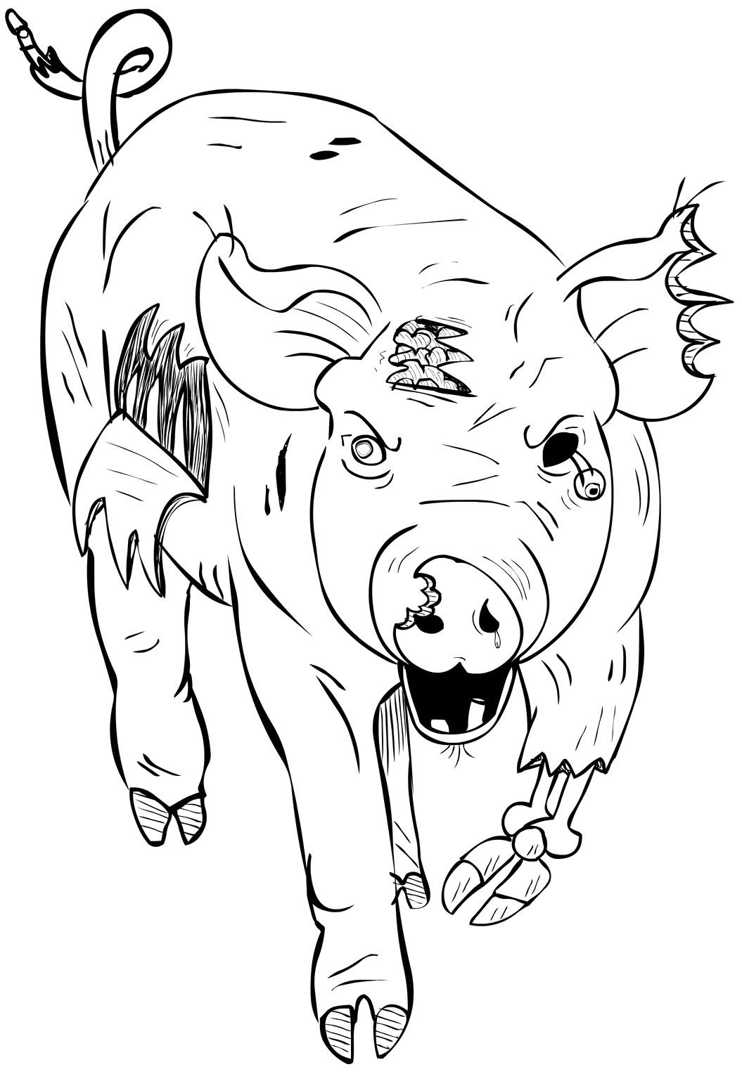 Pig Zombie Coloring Page | My coloring book | Pinterest | Coloring ...