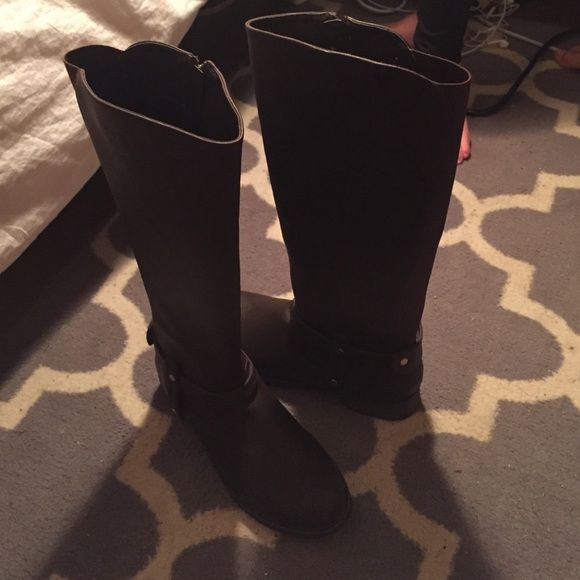 Steve Madden Tall Riding Boots Tall, brown boots. New and never worn! Steve Madden Shoes