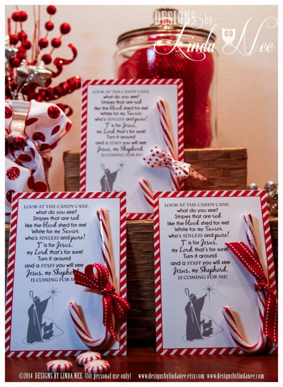 Legend of the Candy Cane - Card for Witnessing at ...