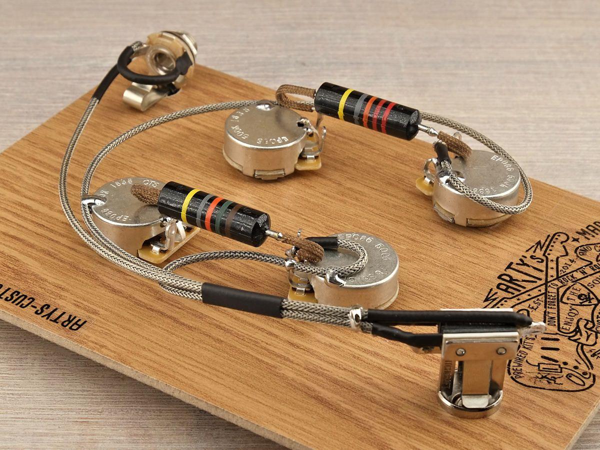 ES-339 Prewired Kit 50/'s wiring BumbleBee ARTYs CUSTOM Harness