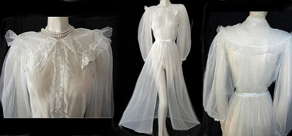 Vintage 40s Styles By Gilbreath Nylon Peignoir by TAHITIBLOSSOM, $59.99