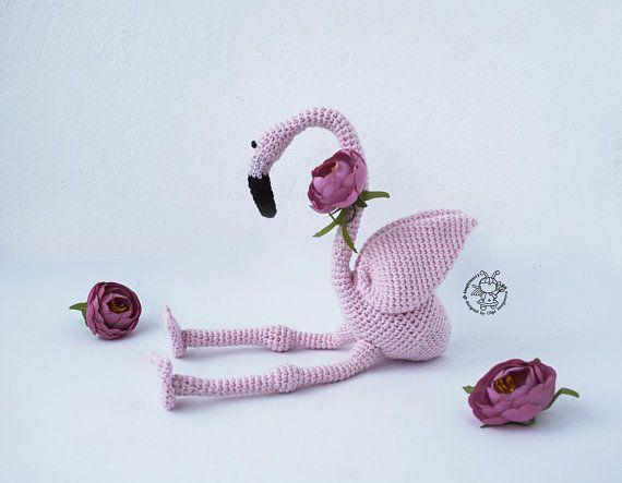 Pink Flamingo Crochet Pink Flamingo Toy Crochet Pattern Amigurumi