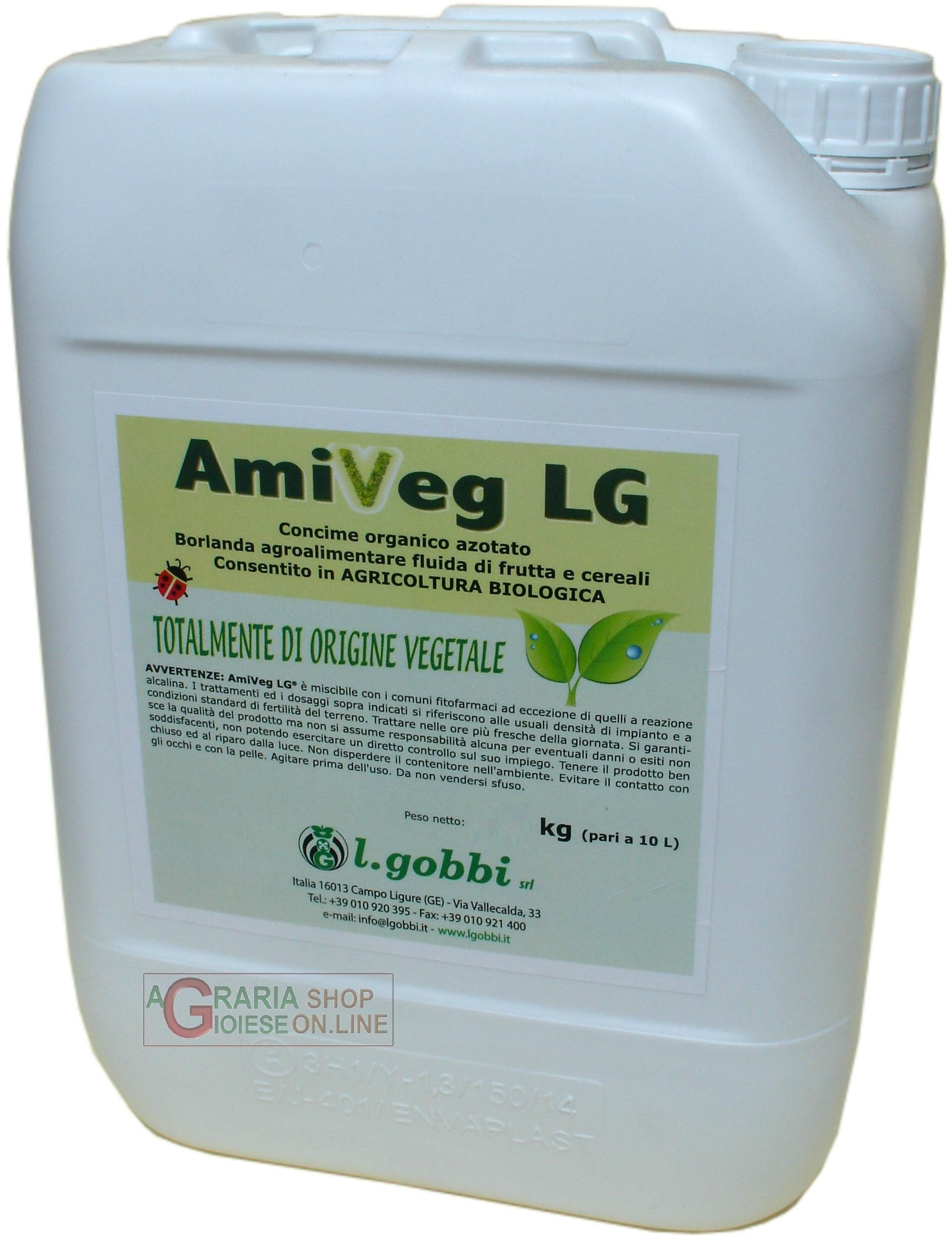 GOBBI AMIVEG LG CONCIME LIQUIDO ORGANO AZOTATO DI ORIGINE VEGETALE KG. 25 http://www.decariashop.it/concimi-per-fertirrigazione/7095-gobbi-amiveg-lg-concime-liquido-organo-azotato-di-origine-vegetale-kg-25.html