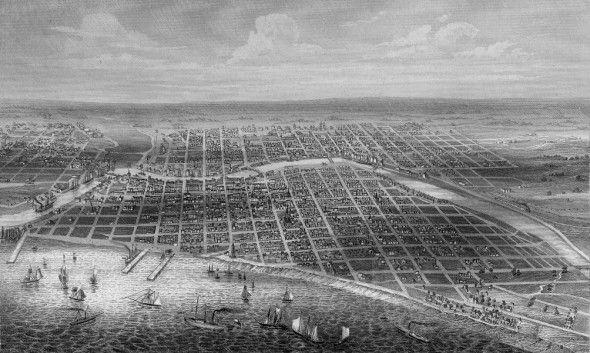 Yesterday S Milwaukee View Of Milwaukee 1856 Milwaukee