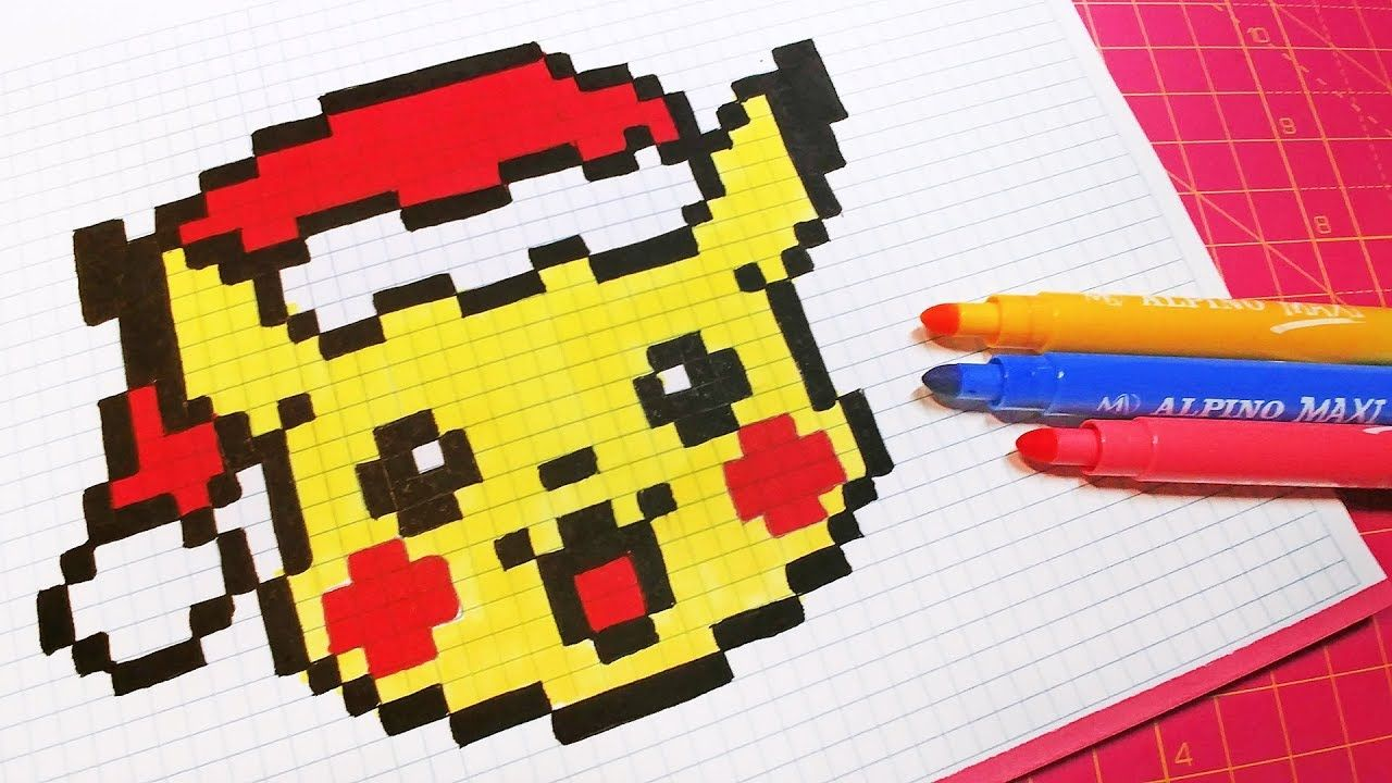 Christmas Pixel Art How To Draw Santa Claus Pikachu