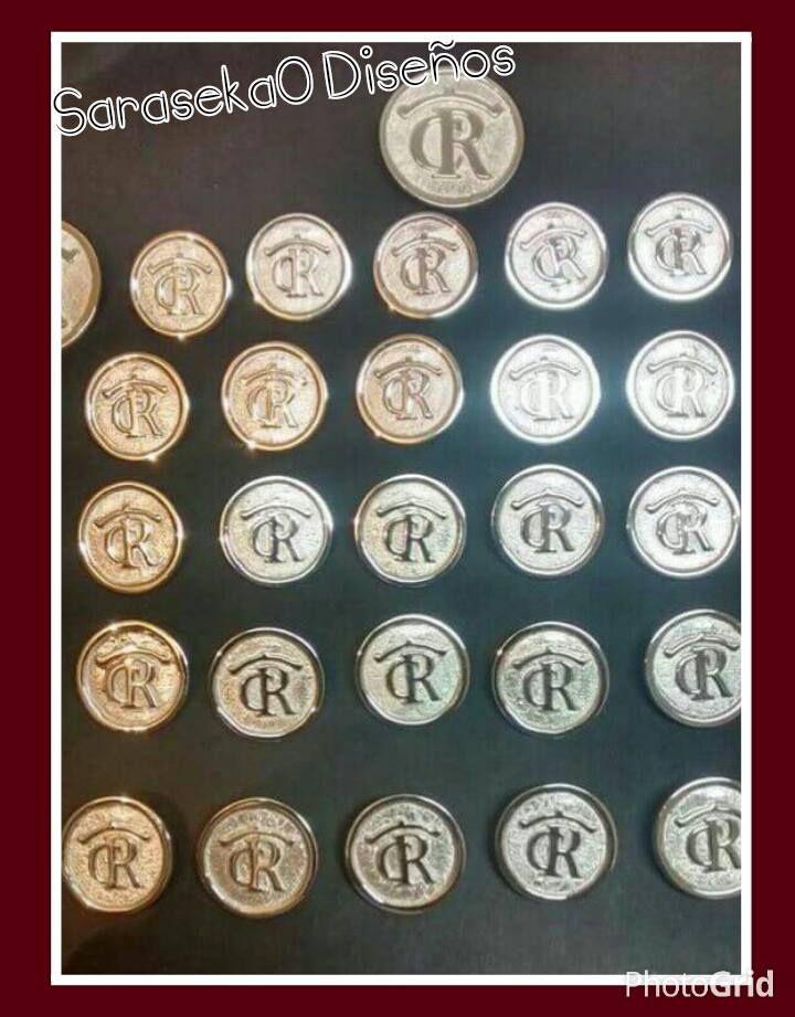 Botones en plata ley .925 para Traje Corto.  d10d741bd24