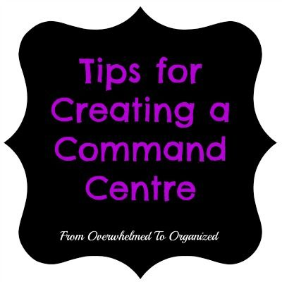 Command Centre:  Wall Files for Papers | fromoverwhelmedtoorganized.blogspot.com