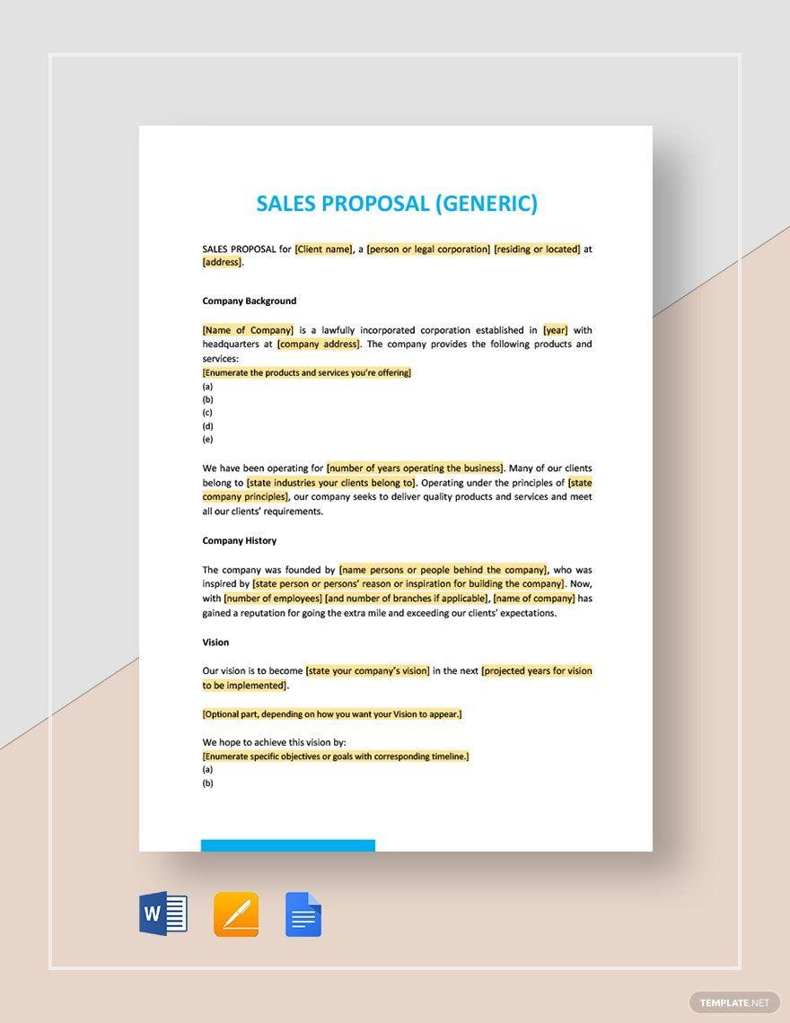 Sales Proposal Template Free Pdf Google Docs Word Apple Pages Pdf Template Net Sales Proposal Proposal Templates Proposal Microsoft word sales proposal template