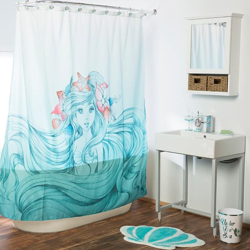 A Bathroom Mermaid For You Disney The Little Mermaid Bathroom Mermaid Bathroom Decor Girl Bathrooms Little Mermaid Bathroom