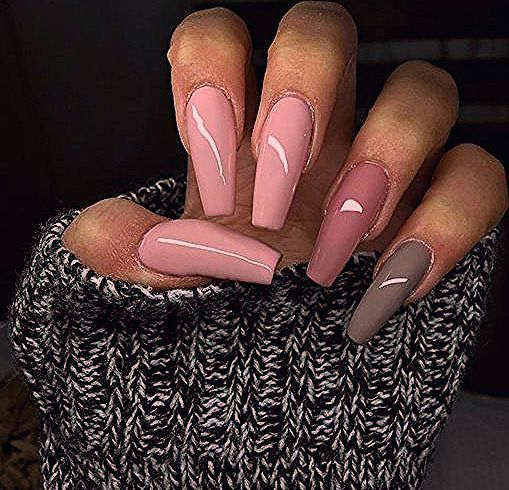 55 Acryl Coffin Nails Designs Ideen - Beste Trend Mode - Acrylic Nails Coffin - Honorable BLog