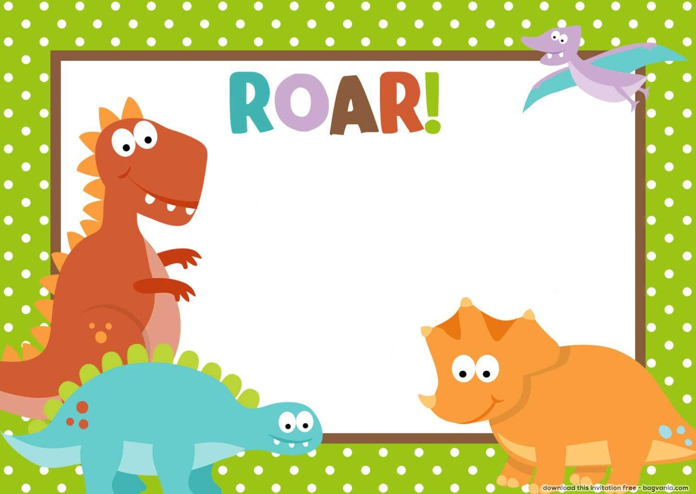 Awesome free dinosaur birthday invitations convites de