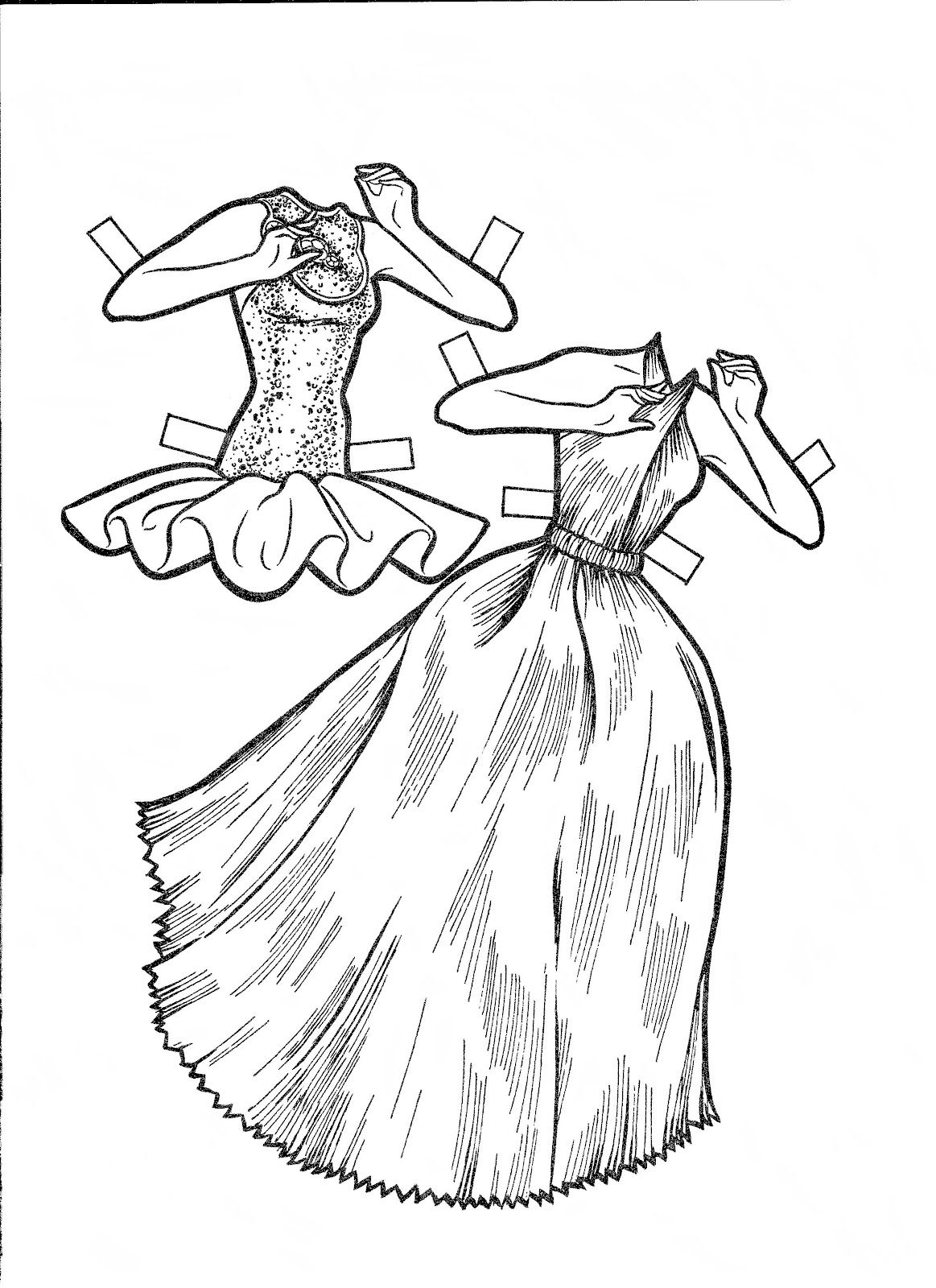 Coloring Pages Barbie Paper Dolls Barbie Paper Doll To Color