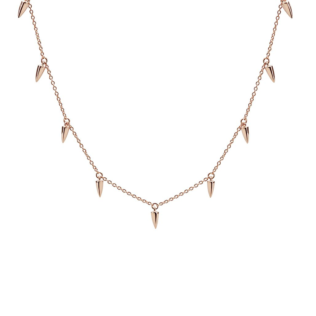 Sahara Dagger Choker In Rose Gold Plate