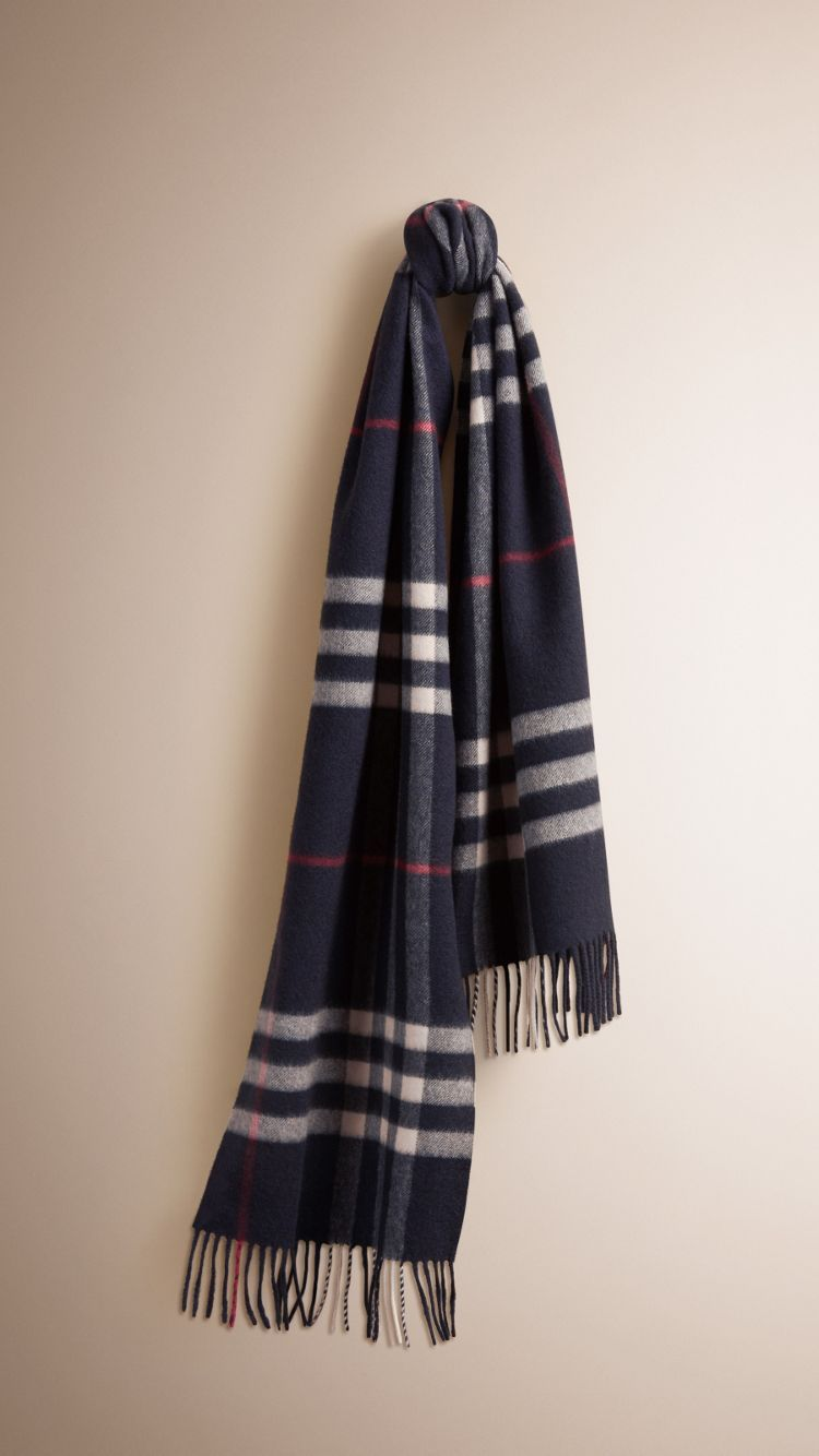 The Classic Cashmere Scarf in Check. The Classic Cashmere Scarf in Check  Burberry ... 2146451fe55