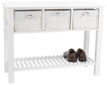 Console table OURE 3 baskets white JYSK Home Decoration