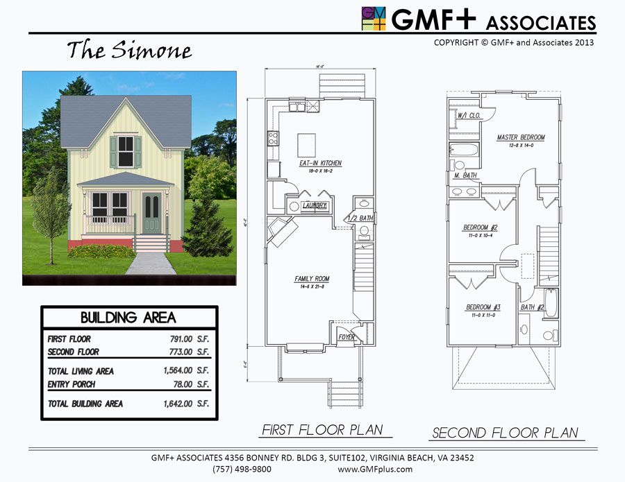 The Simone Is A 3-Bedroom House Plan Intended For A Narrow Urban