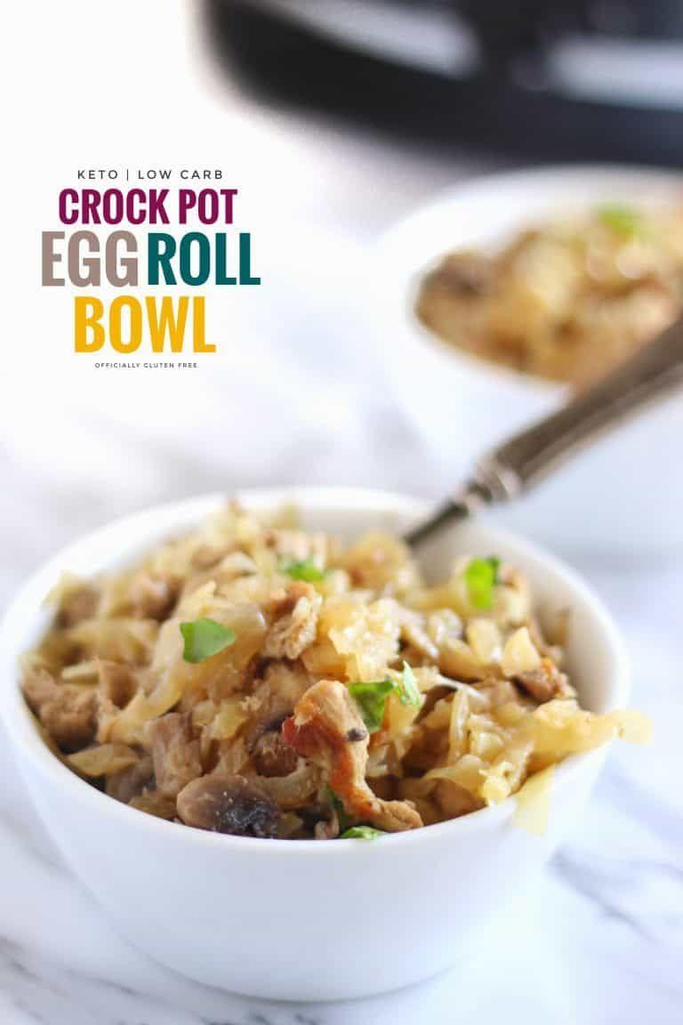 Crock Pot Egg Roll Bowl #eggrollinabowl