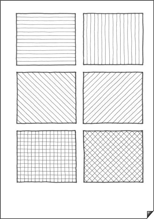 Practica De Distribucion Y Lineas Tecnicas De Dibujo Dibujo Con Lineas Ejercicios De Dibujo