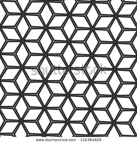 Cubes Mosaic forming 3D Geometric Pattern | by life_in_a_pixel, via  ShutterStock