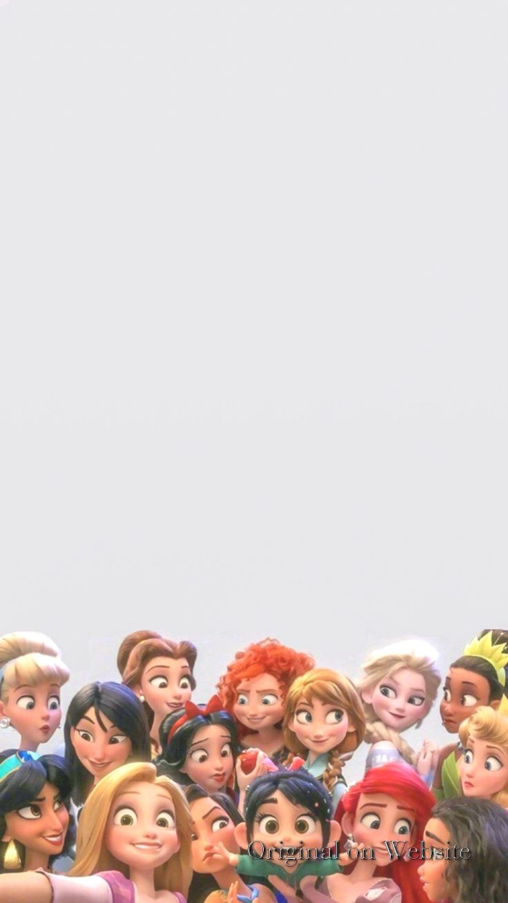 Iphone Wallpaper Disney Characters Vanellope With All The Disney