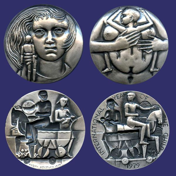 Medals4Trade - Last additions/Rasanen, Kauko, Year of the Child, 1979, Silver-combo~0