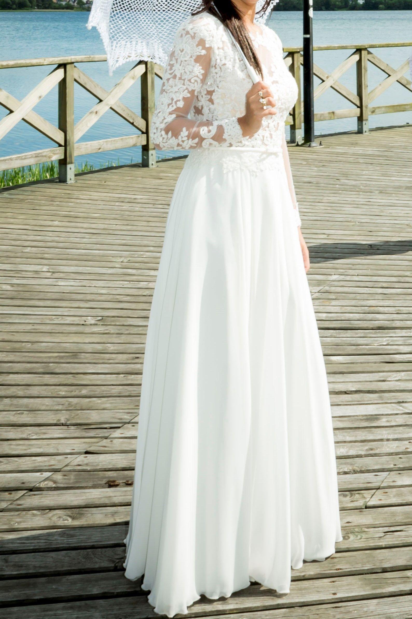 Sprzedam Suknie Slubna Madonna 7451879033 Oficjalne Archiwum Allegro Wedding Dresses Wedding Dresses Lace Dresses