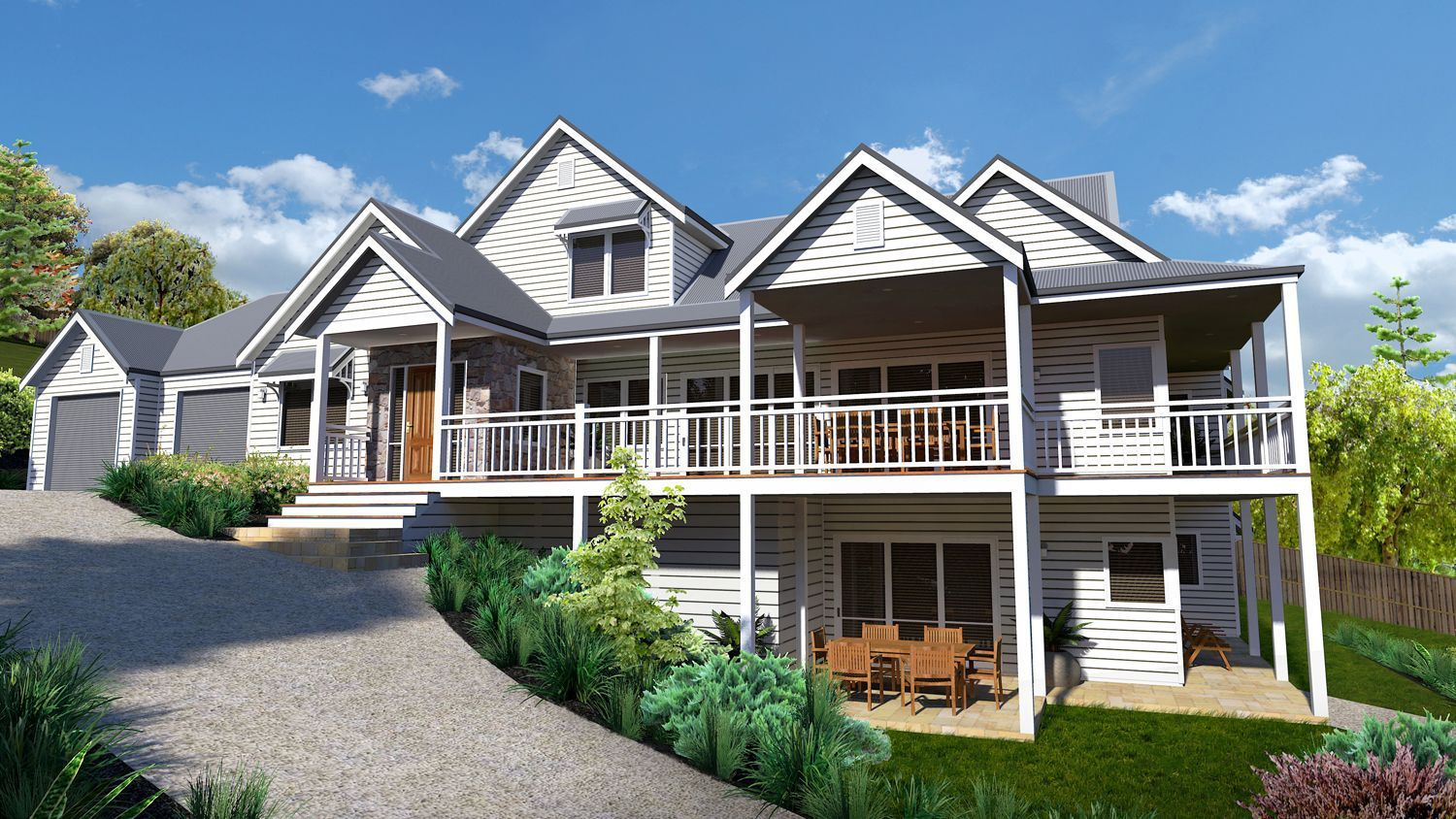 Bright Manor Picture of and two storey design traditional