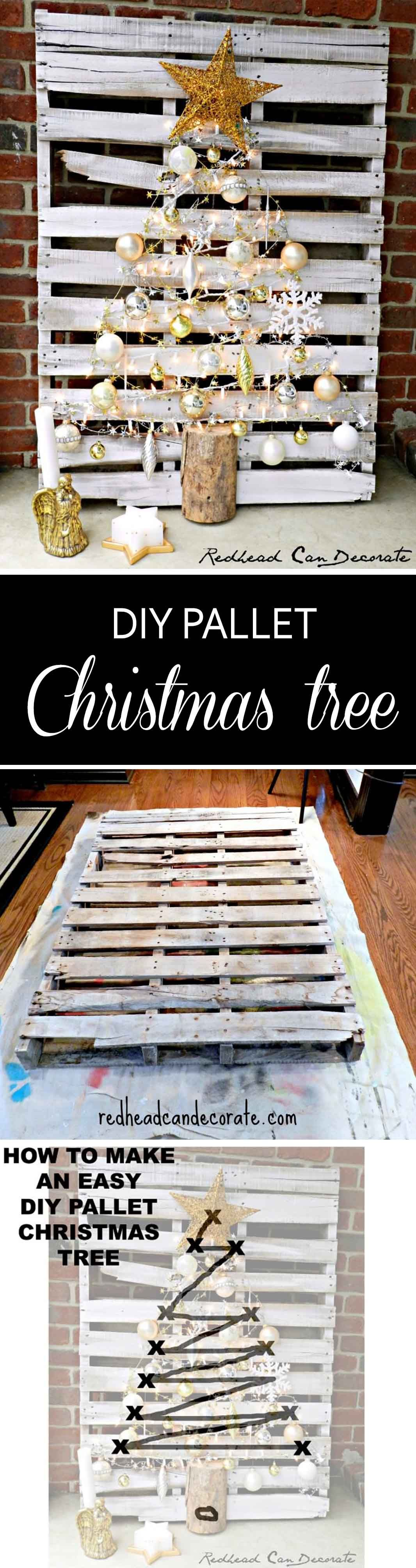 Merry DIY Pallet Christmas Tree