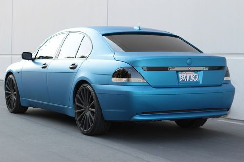 2003 BMW 745i MATTE METALLIC BLUE CUSTOM 22 22 rims