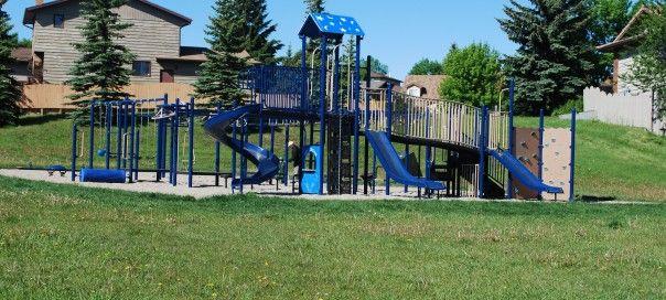 Beddington Blue Star Playground Calgary Ab Playground Next At Home Park Slide